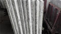 Carrara white marble composite with honeycomb engineered stone Aluminium honeyco