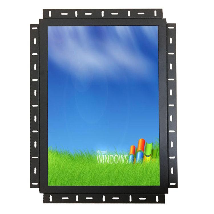 19寸寬屏觸摸顯示器工業金屬殼嵌入式顯示器 2