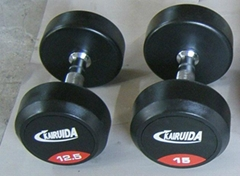 round rubber dumbbell
