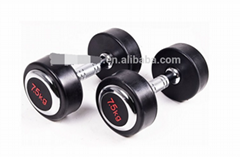 Rubber dumbbell (with cover plate)with high quality