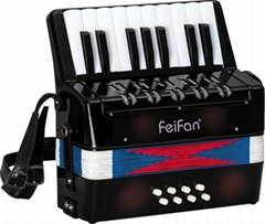 17 key 8 bass junior children's popular plastic accordion for sale