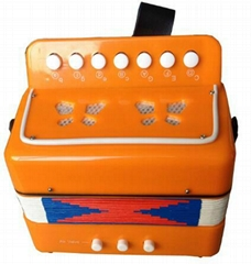 children 7 key 2 bass toy musical button accordion for sale