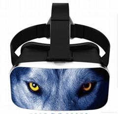 polarized ABS 3D glasses Digital 3D VR Helmet for video games