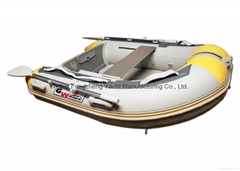 7.6 ft Inflatable Boat Dinghy Yacht Tender Raft with Air mat floor