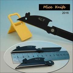 Full steel folding mouse shaped knife