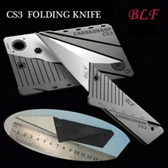 CREDIT CARD KNIFE CS3 CARD & SHARP Folding Blade Fits in Wallet