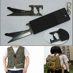 7 in 1 multifunctional stainless steel  portable outdoor tool knife