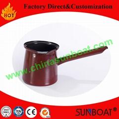 725ml, o.6mm thickness best seller enamel coffee pot