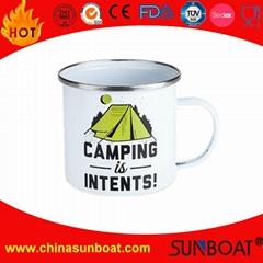customized design enamel travel mug