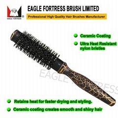 Hot Curling Brush with Wooden Handle