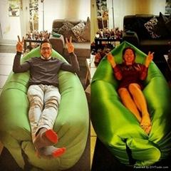 fast inflatable sleeping air bag lamzac hangout