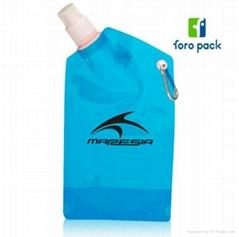 Customized logo printing foldable water bottle