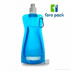 Plastic sport foldable water bottle