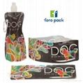 foldable plastic zip lock pet travel