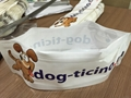 Folding pet bowl plastic pet drinking zipper bag for sale 3