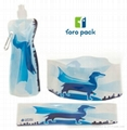 zipper foldable pet water Bowl Pet