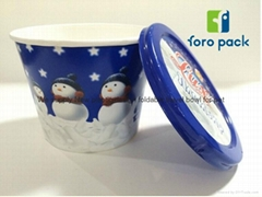 Custom printed cute ice cream paper cup