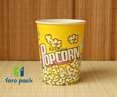 disposable paper Cup Double & single PE for popcorn cheap papaer cup for popcorn