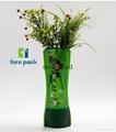 clear plastic foldable vases for flowers