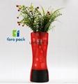 Factory Custom Stand Up Plastic Reusable Foldable Flower Vase