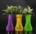 Wholesale custom unbreakable cheap PVC foldable plastic flower vase