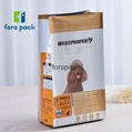 Customized animal feed packaging bag/three side sealed/heat sealed pet food pack