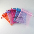 organza bags with logo ribbon/Factory Wholesale Hair Packaging Yarn Bag