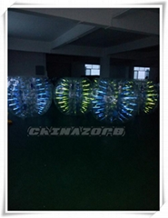 Popular glow inflatable bubble soccer good price