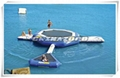 Durable Inflatable Water Trampoline Combination Of Blob And Tubes  1