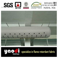 fabric air duct for HVAC system