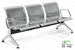 專業生產不鏽鋼等候椅WG-513
