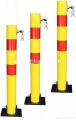 Round manual Car parking bollards road bollards