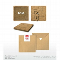 Natural cork coasters for cups wedding and party gift LOGO print Customization a
