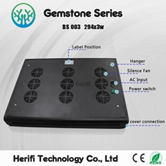 294X3w 600w Full Spectrum LED Grow Lighting--herifi Gemstone Series BS003