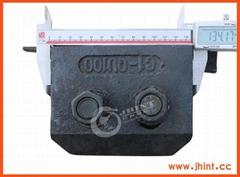 100kg double hole cast steel rail cilp