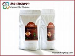 烘焙罗布斯塔咖啡豆
