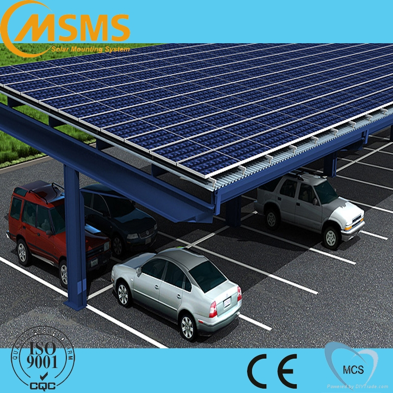 Ground solar panel mounting system pv solar carport mounting 2