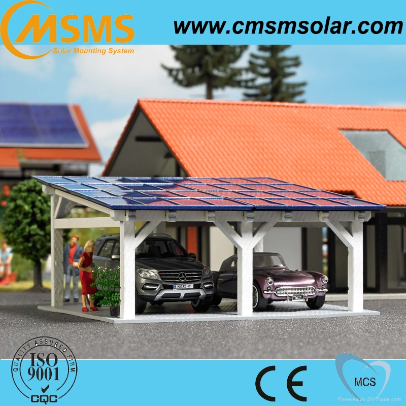 Ground solar panel mounting system pv solar carport mounting 3