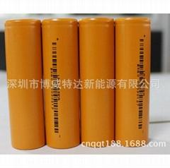 批发高容量动力型力神18650磷酸铁锂电池1300MAH电动自行单车电瓶