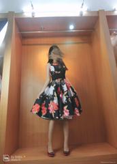 定製3D印花晚宴年會舞會伴娘小禮服