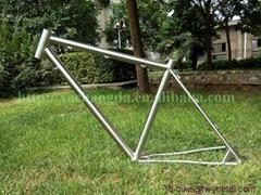 Titanium road bicycle frame customized titanium bike part made in China
