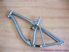 titanium bike frame bmx made in china titan full suspension bike frame mtb