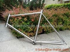 Titanium road bicycle frame customized titan touring bicycle frame in china