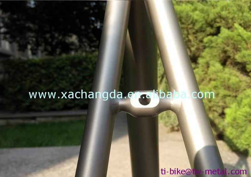 Customized titanium touring bike frame ti road bicycle frame made in china 2