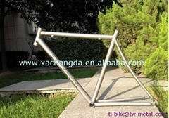 Customized titanium touring bike frame ti road bicycle frame made in china