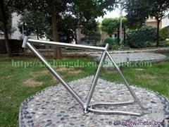 China made titanium mtb bicycle frame with 44mm bigger headtube cheap