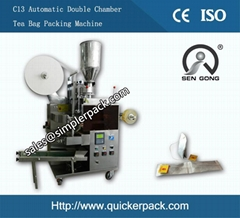 Double Chamber Malawi CTC Tea Bag Packing Machine
