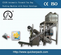 Pyramid Organic Herbal Tea Packaging Machine with Outer Envelope