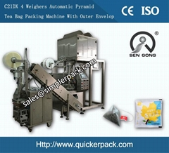 Pyramid Indonesia Java Tea Bag Packing Machine with Outer Envelope