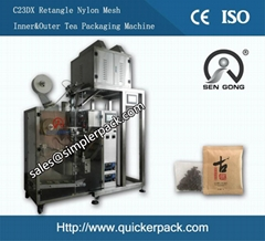 Flat Ultrasonic Nylon Sri Lanka Ceylon Tea Bag Packing Machine
